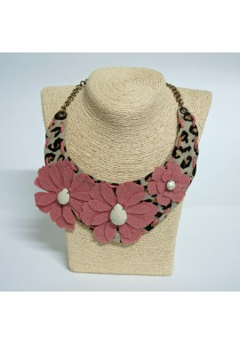 COLLAR LEOPARDO ROSA